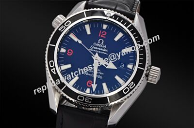 Omega Seamaster 600m Luminous Markers Swiss Black Bezel White Gold Diver's Watch OMJ024