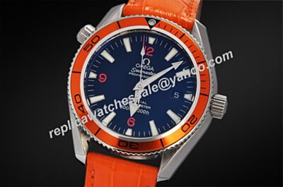 Omega Seamaster 600m/2000ft Ref 2909.50.83 Luminous Orange Leather Strap Watch OMJ025