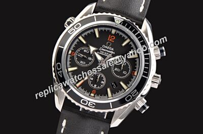Swiss Replica Omega Seamaster 600m chronograph Black Luminous Markers Watch OMJ078