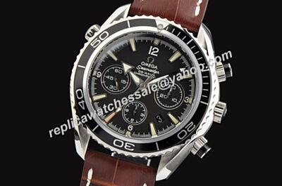 Omega Seamaster 600m/2000ft Chrono Black  Bezel Black 45mm Date Watch OMJ079