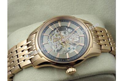 Omega Deville Hour Vision Skeleton Rose Gold  431.93.41.21.64.001 Swiss fake 41mm Watch OMJ249