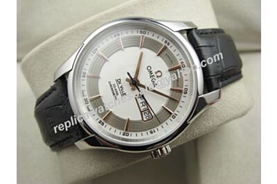 Mens Omega Deville Hour Vision Ref 431.33.41.22.02.001 Day Date White Gold 41mm Swiss Watch OMJ255