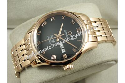 Mens Omega Deville Hour Vision Ref 433.50.41.22.03.001Gold 41mm Swiss  Day Date Watch OMJ282
