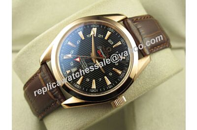 Omega Seamaster 150m Gmt Gold Bezel 24 Hours  Clone Auto Watch OMJ293