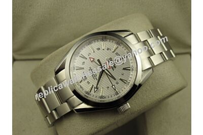 Omega Seamaster 150m Gmt Auto All Silver  Ref 231.90.43.22.04.001 Rep 41mm Date Watch OMJ296