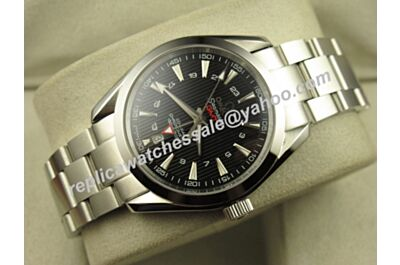 Omega Seamaster 150m Gmt Black Silver Bracelet 43mm Date Replica Watch 231.10.43.22.01.001