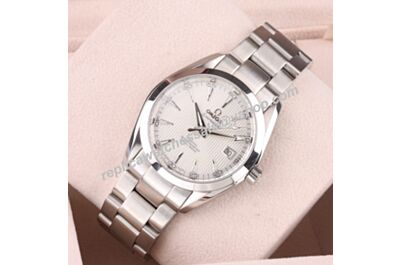 Copy Omega Seamaster 150m/500ft Ref 231.10.42.21.02.003 Skeleton Hands Silver Bezel Watch