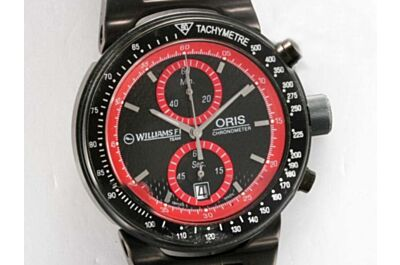 Oris WilliamsF1 Team  Chronograph Ref  673 7563 4754 RS 45mm Quartz Black Bezel Watch