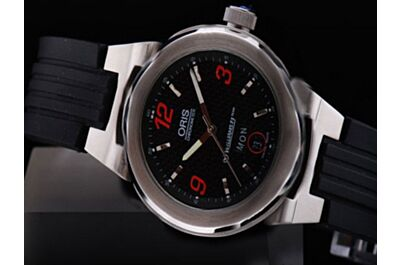 Oris WilliamsF1 Team Day Date Automatic Red Arabic Silver Ss Watch