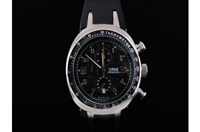Oris TT3 Chronograph Titan Kautschuk  01 674 Ref 7587 7264-07 4 28 02T Quartz 42mm Date Watch