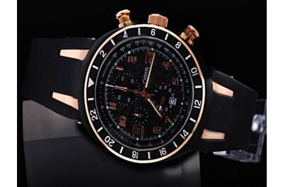 Oris TT3 titanium Black Chronograph Rose Gold Gents Watch Replica