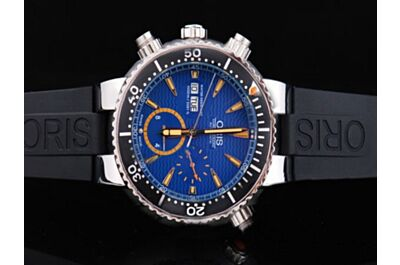 Oris Diving Men's Chronograph Carlos Coste Limited Edition Blue Day Date Watch