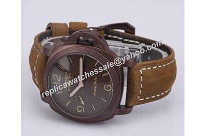Cheap Rep Panerai Luminor 1950 Marina 3 Days PAM00386 Titanio Men 44mm Brown Watch