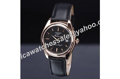 Cheap Longines Silver Arrow Discontinued Men Rose Gold Date Auto Watch