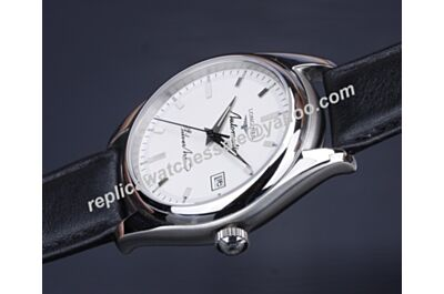 Longines L2.703.4.16.0 Silver Arrow Gents White Automatic 42mm Watch Rep