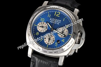 Panerai Luminor Chronograph Regatta Special Edition 2003 PAM 168 2-Tone Dial Watch PNH002