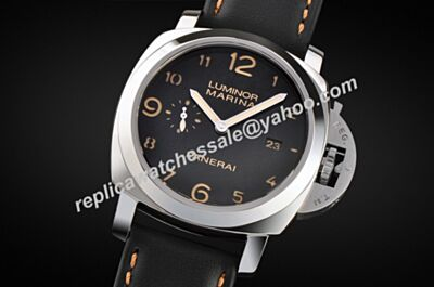 2017 New Panerai Ref PAM00359 Luminor Marina 1950 3 Days Polished Steel Auto Date Watch