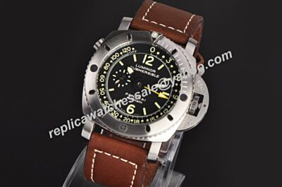 Cheap Replica Panerai Luminor 1950 Submersible Depth Gauge Automatic GMT Watch