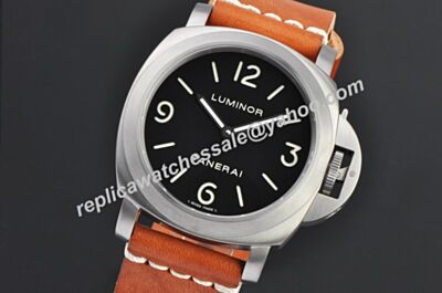 Knockoff Panerai Luminor Base PAM00112 Auto Movement Black Face Men Watch