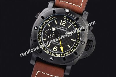 Panerai Luminor 1950 Submersible Depth Gauge Automatic GMT Watch Clone