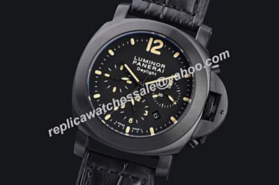Panerai Luminor Chrono Daylight Automatic Movement Cheap Fake Special All Black Watch