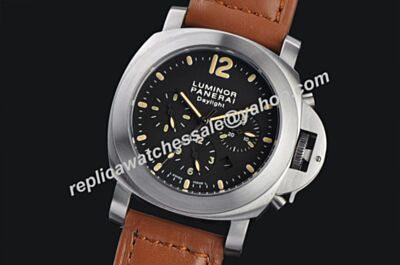 Panerai PAM00356 Luminor Chrono Daylight 44mm Silver Steel Automatic Date Watch