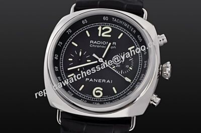 Panerai Radiomir PAM00288 Tachymeter Bezel 45mm Black Men Chronograph Swiss Made Rep Watch PNH018