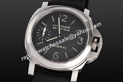 Cheap Fake Panerai Luminor Marina Automatic Silver Steel Leather Band Watch