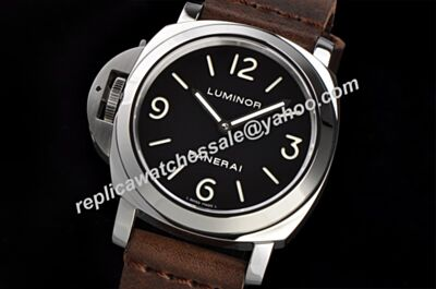 Panerai Luminor Base Ref PAM00176 Automatic Movement Luminous Left Silver Case Watch