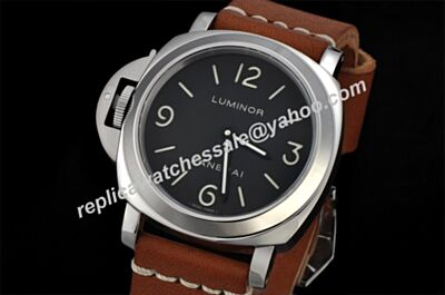 Panerai Luminor Base Automatic Movement Luminous Left Silver Steel Watch Rep