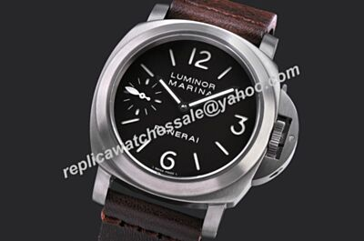Panerai Luminor Marina PVD Titanium DLC Case PAM00195 44mm Black Face Watch