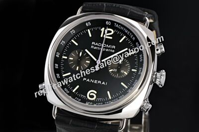 Panerai 7750 Radiomir Rattrapante Swiss Auto Movement Chronograph 18k Silver Watch PNH037