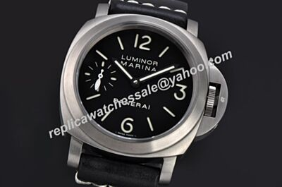 Panerai Luminor Marina Automatic 18kt Silver 3D Bezel Titanium Steel Watch Clone