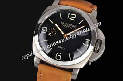 Panerai Luminor Marina 1950 3 Days 18k Silver Stainless Steel Case Watch