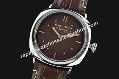 Men Panerai Radiomir S.L.C 3 Days 47mm Automatic Movement Knockoffs Brown Watch