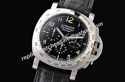 Panerai Luminor Chrono Daylight PAM00326 Swiss Auto Movement Black Face Simulation Men Watch PNH053