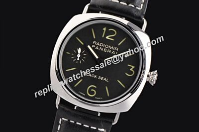 Panerai Black Seal Radiomir PAM00388 Steel Case Black Dial Luminous 45mm watch