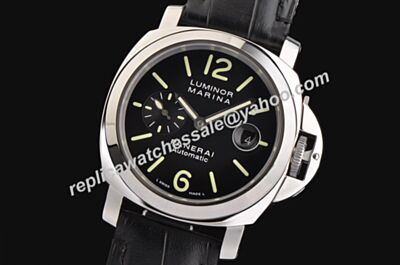 Offical Panerai PAM 00048 Luminor Marina Swiss Made Automatic Leather Band Faux Watch PNH071