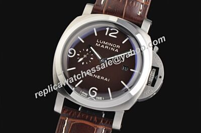 Panerai Luminor 1950 Marina 3 Days Titanio Men Brown Face Knockoff Watch