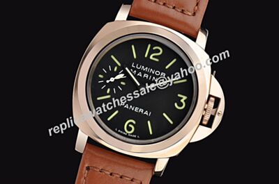 Panerai Luminor Marina Acciaio PAM00111 Leather Band Wrist Watch For Men