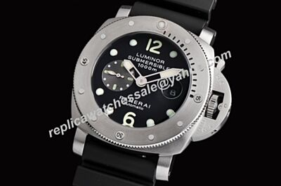 Faux Panerai Luminor Submersible 1000m Ref PAM00064 La Bomba Stainless Steel Gmt Watch