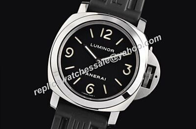 Panerai Luminor Base Right Crown 44mmm Auto Special Rubber Band Watch