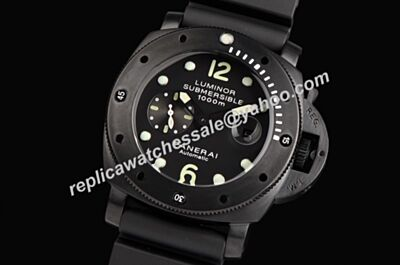 Panerai Luminor Submersible 1000m Automatic SS Duplica Carbon Black Watch