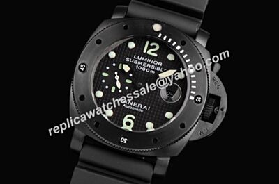 Panerai PAM00389 Luminor Submersible 1000m Amagnetic 3 Day Titanio Black Dive Watch Clone