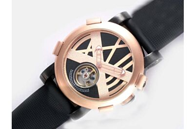 Romain Jerome T-Oxy III Ultimate Tourbillon Titanic-DNA  TO.T.OXY3.BBBB.R.00 Rusted Bezel Rose Gold Watch
