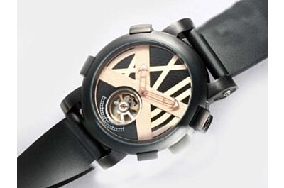 Romain Jerome Titanic-DNA Tourbillon Black Automatic Mne's 46mm Watch