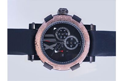 Romain Jerome Titanic DNA Men's Chronograph CH.T.OXY3.BBBB.00.BB Black Satin-Finished  Watch