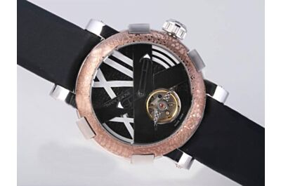 Fake Romain Jerome T.ALG.OXY3R.BBBB.00.BBGCB Titanic DNA Tourbillon A la Grande rusted steel Auto Watch