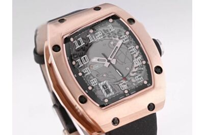 Cheap Replica Richard Mille Skeleton Dial Automatic Rose Gold Bezel Watch