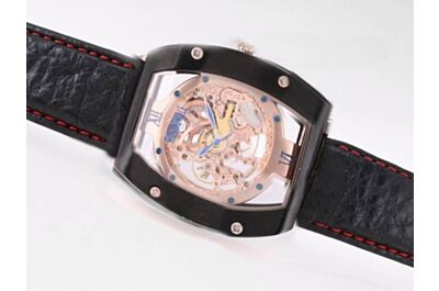 Automatic Movement Richard Mille Gents Carbon Black 48mm Skeleton Watch
